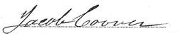 Jacob Coover Signature